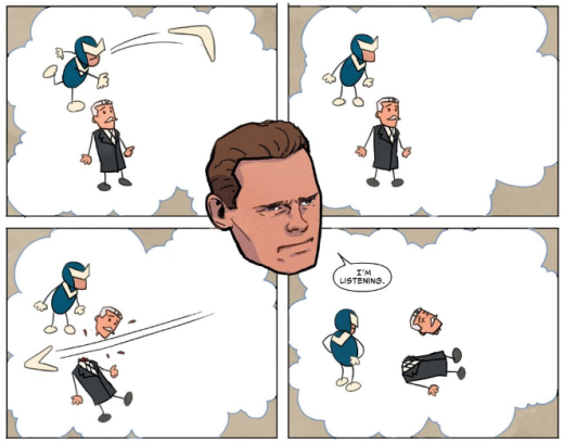 Superior Foes of Spider-Man - Stick Figure Sequence