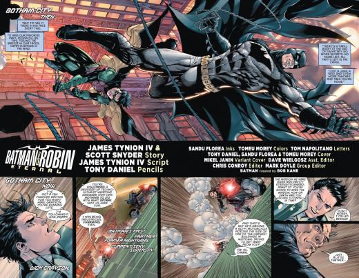 Batman & Robin Eternal #1 - Spread