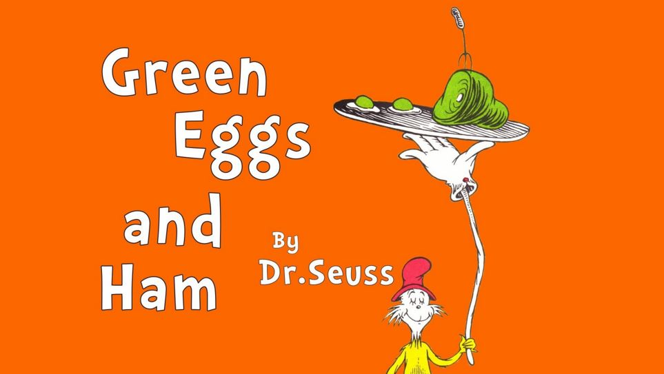 Dr Seuss Day Green Eggs and Ham