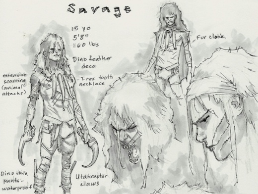 Savage B Clay Moore Sketch