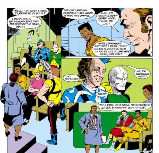 Captain Boomerang Racist